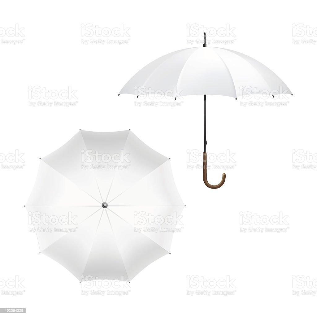 Vector Illustration of Blank White Umbrella vector art illustration