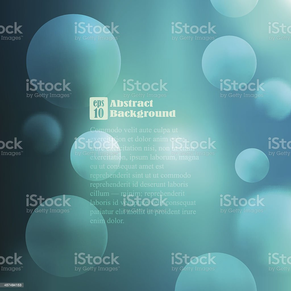 Vector illustration of blue bubbles on a blue backdrop royalty-free stock vector art