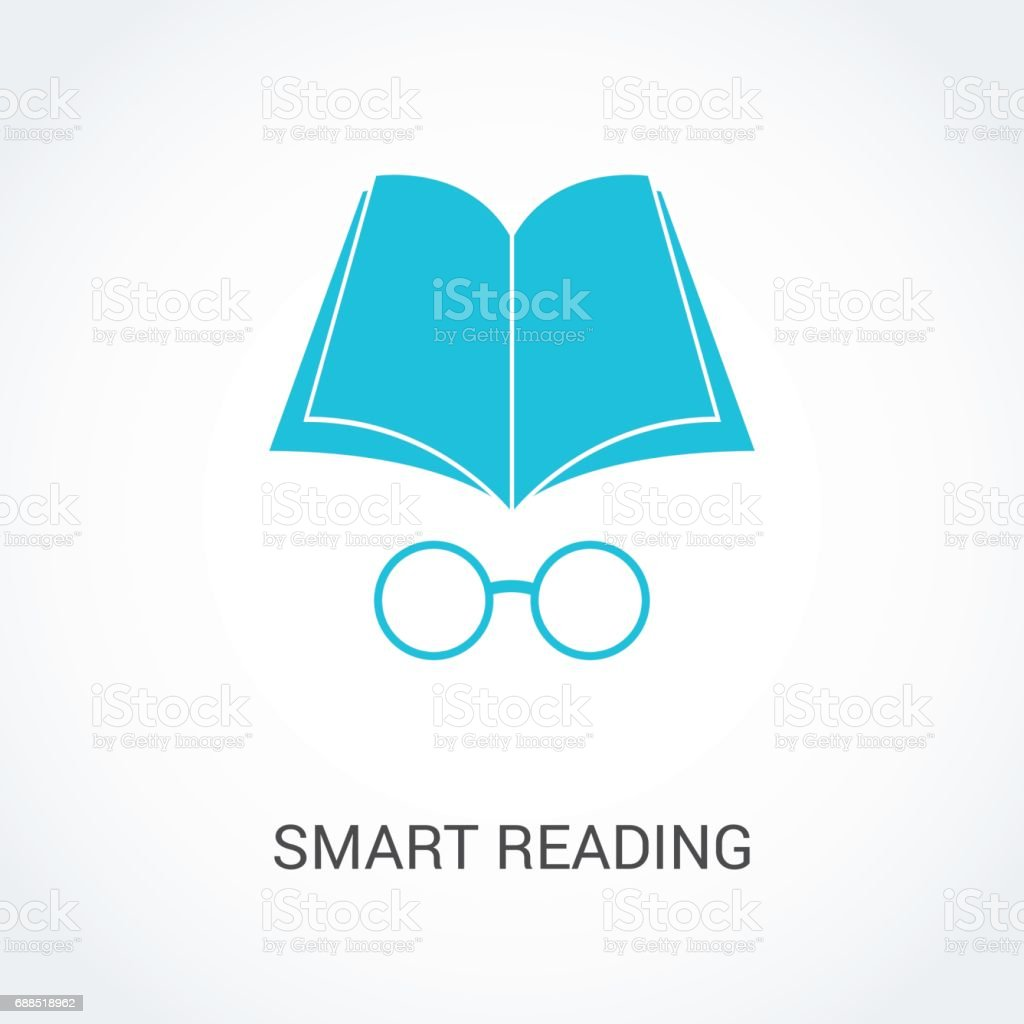 Vector illustration of book and glasses icons. Logo for any design idea. vector art illustration