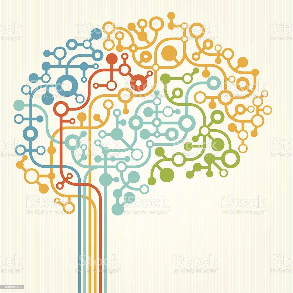 Vector illustration of brain concept vector art illustration