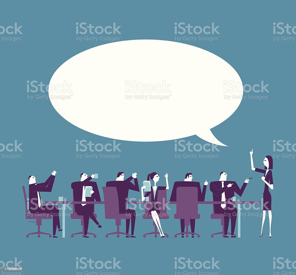 Vector illustration of business presentation royalty-free stock vector art