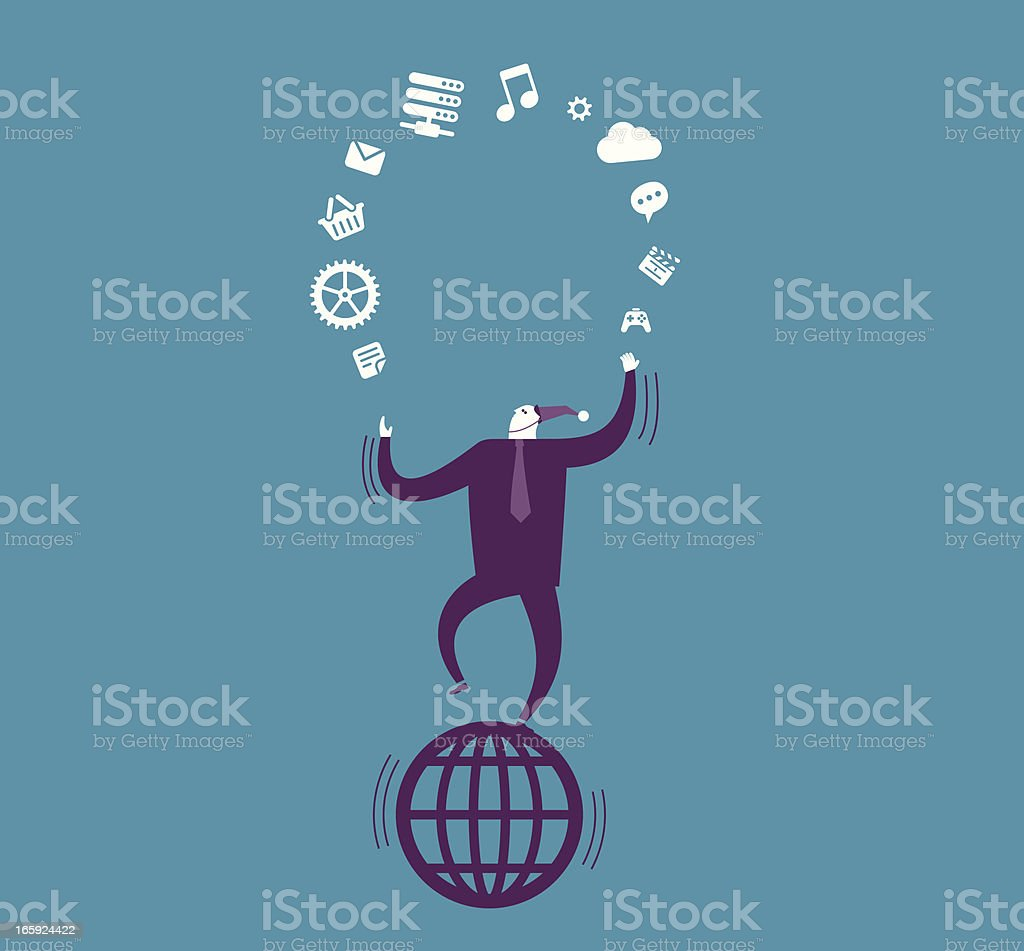 Vector illustration of business processes royalty-free stock vector art