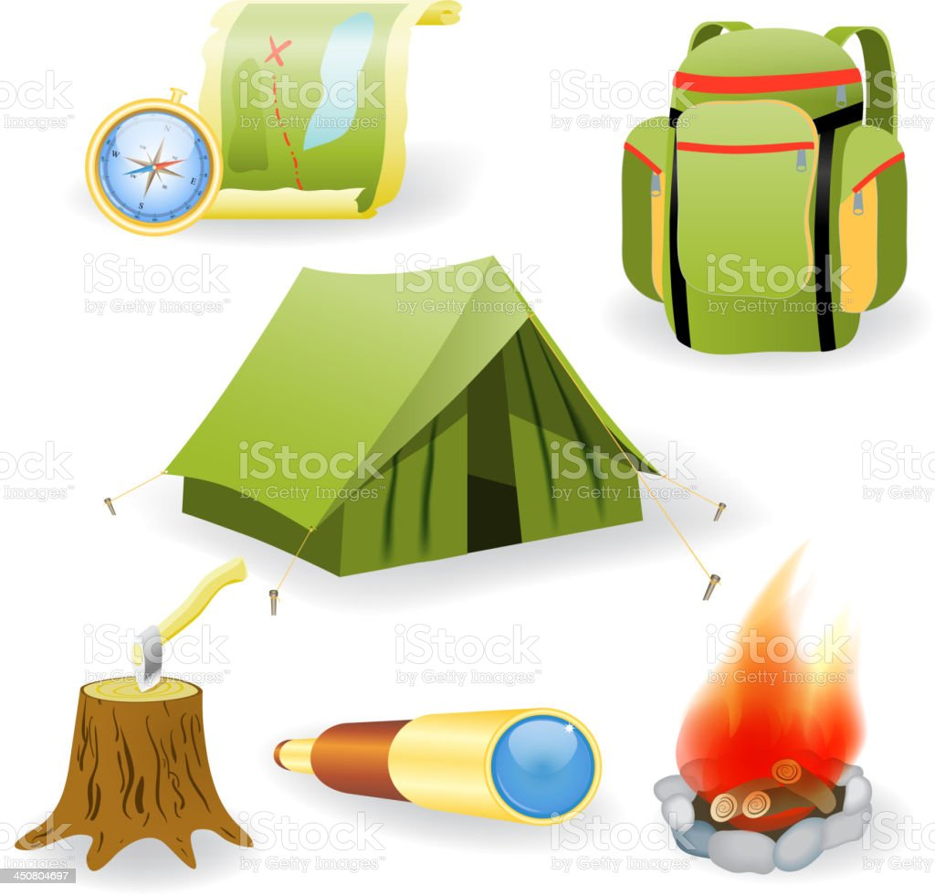 Vector illustration of camping collection royalty-free stock vector art