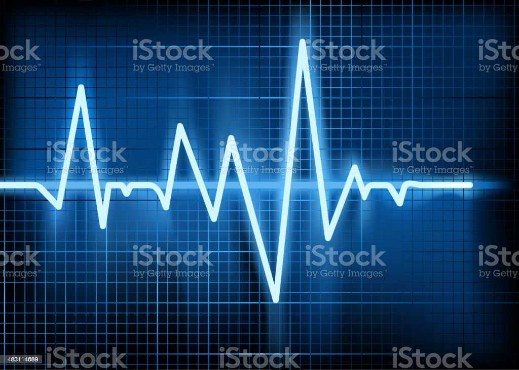 Vector illustration of cardiogram royalty-free stock vector art