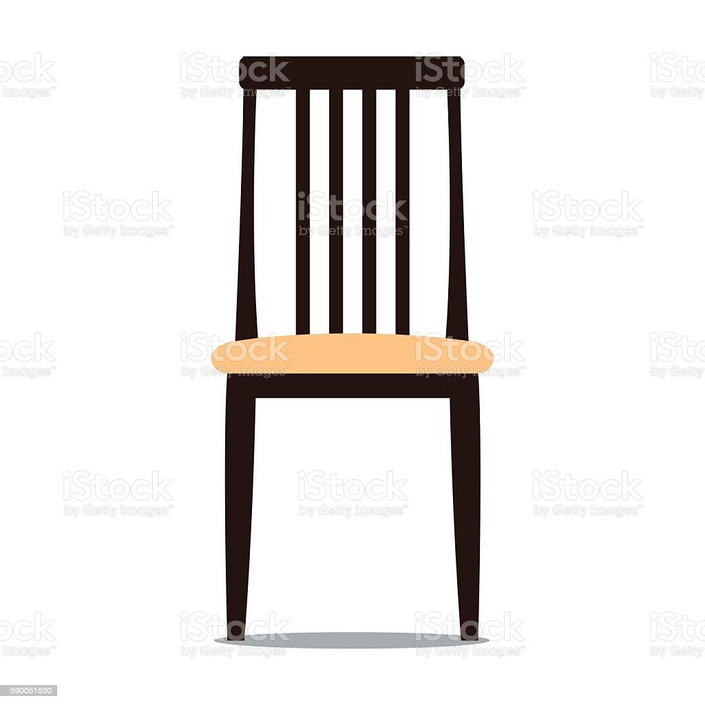 Vector illustration of chair with backrest vector art illustration