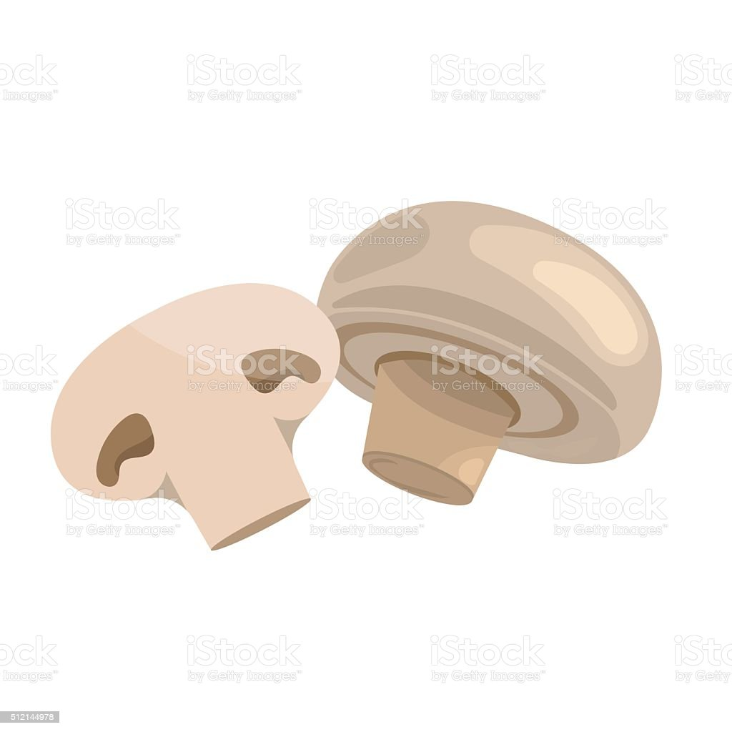 Vector illustration of champignon vector art illustration