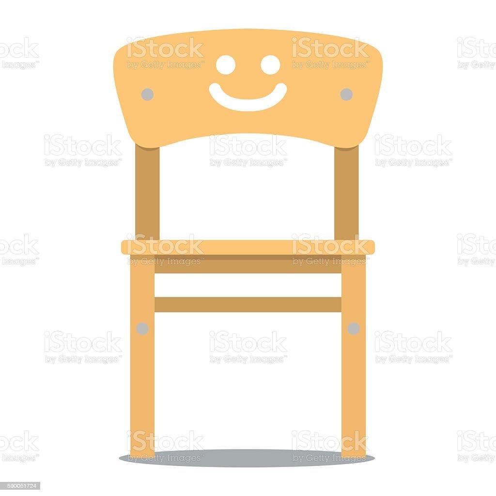 Vector illustration of children chair vector art illustration