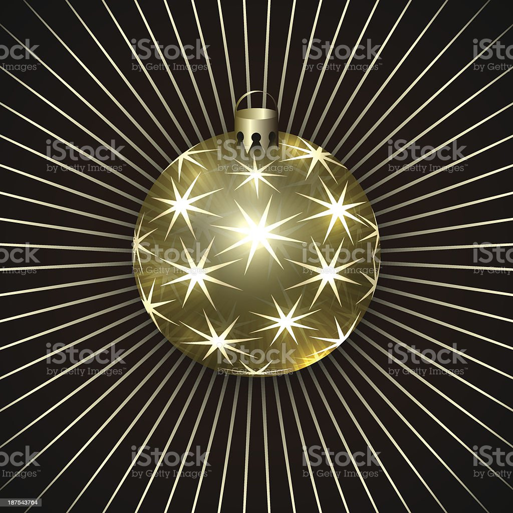 Vector Illustration of Christmas Decoration Ball royalty-free stock vector art