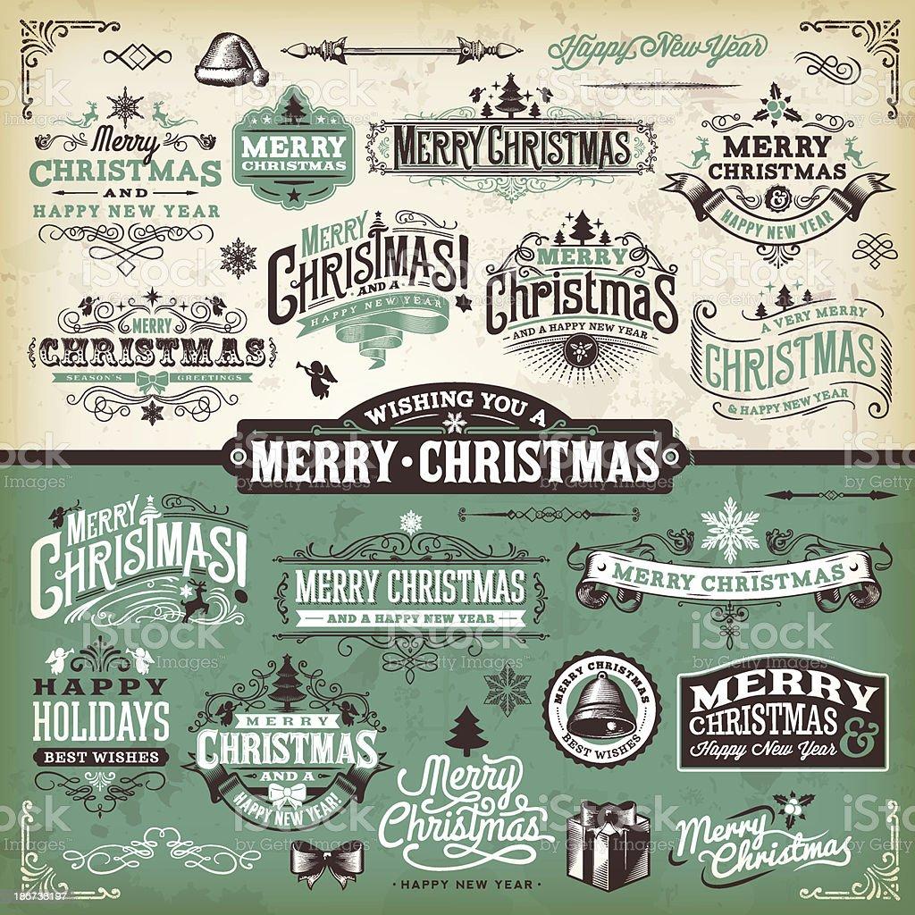 Vector illustration of Christmas labels vector art illustration