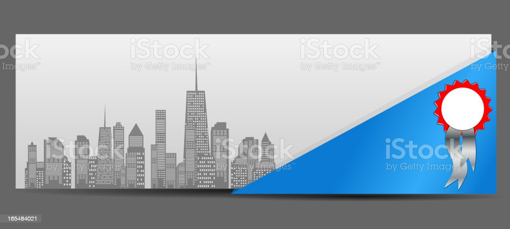 vector illustration of cities silhouette banner royalty-free stock vector art