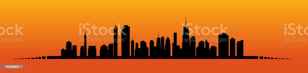 Vector illustration of cities silhouette. EPS 10. royalty-free stock vector art