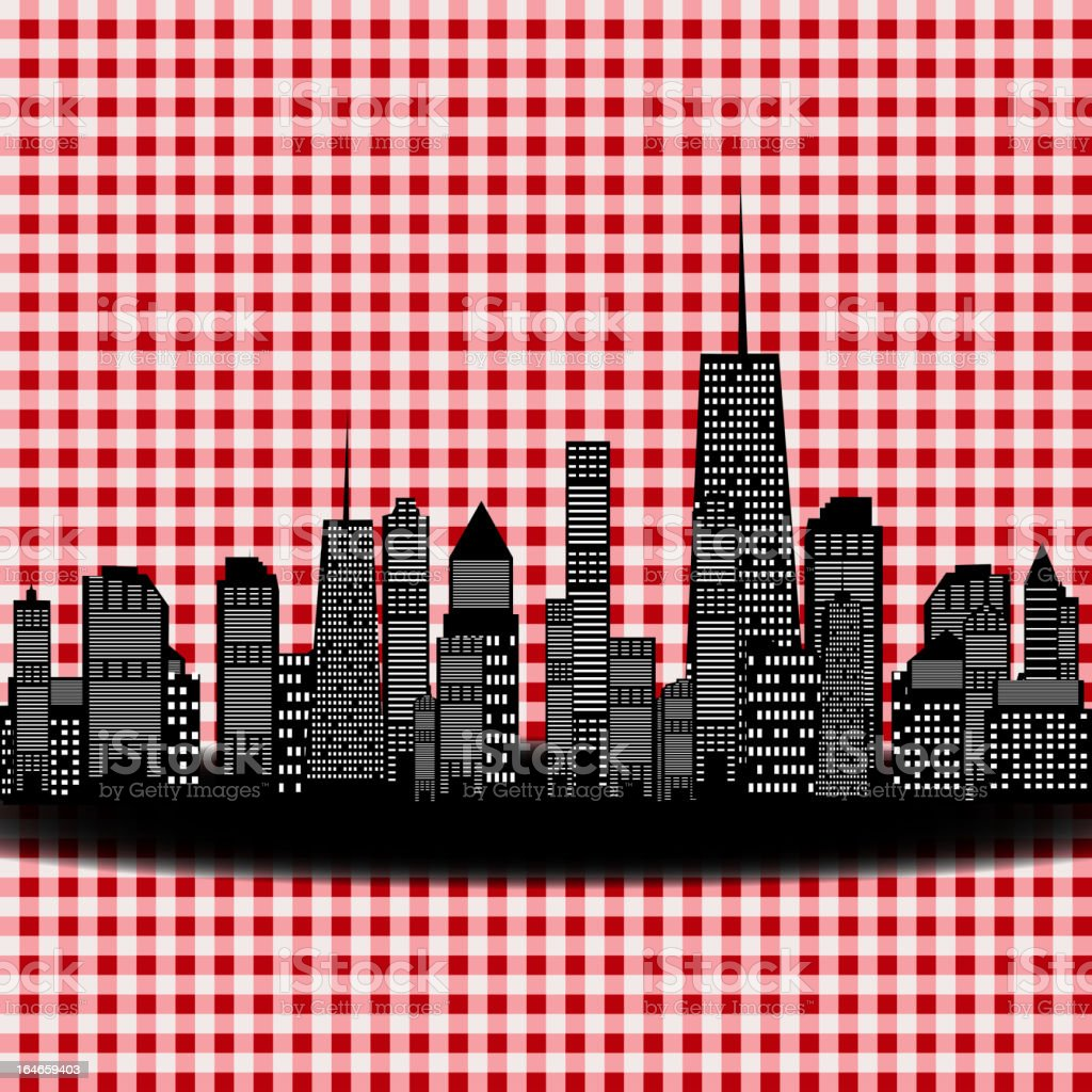 Vector illustration of cities silhouette. EPS 10. vector art illustration