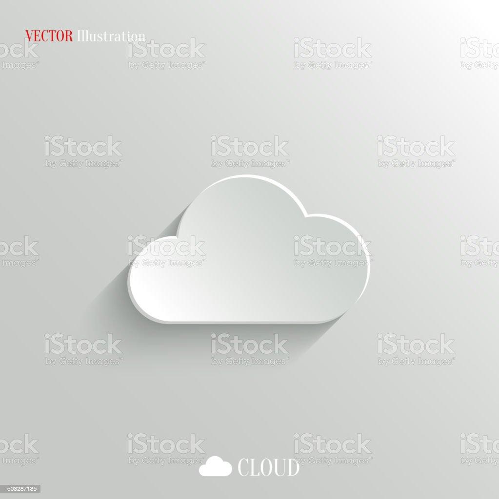 Vector illustration of cloud icon on white vector art illustration