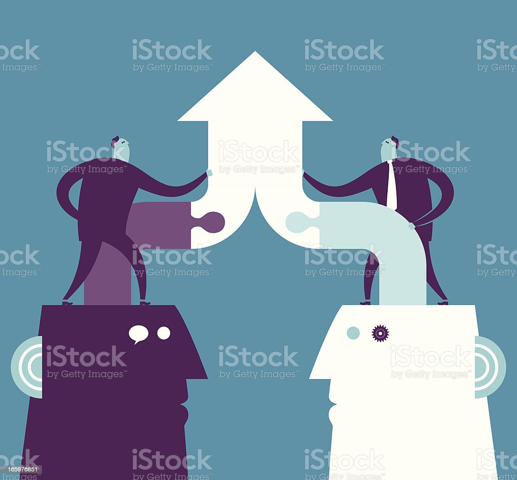 Vector illustration of collaboration concept royalty-free stock vector art