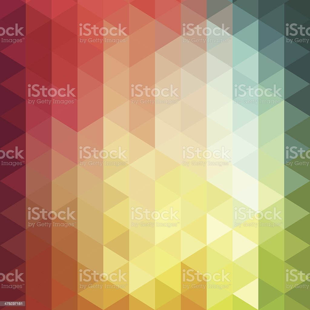 Vector illustration of colorful cube background vector art illustration
