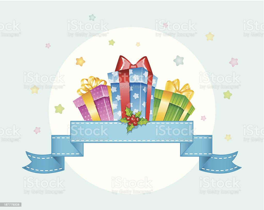 Vector illustration of Colorful gift boxes with bows royalty-free stock vector art