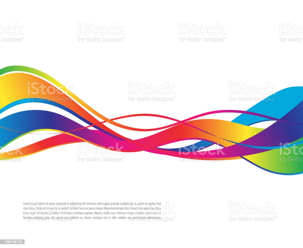 Vector illustration of colorful ribbon waves vector art illustration