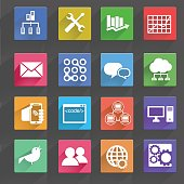 Vector illustration of computer technology icons set.