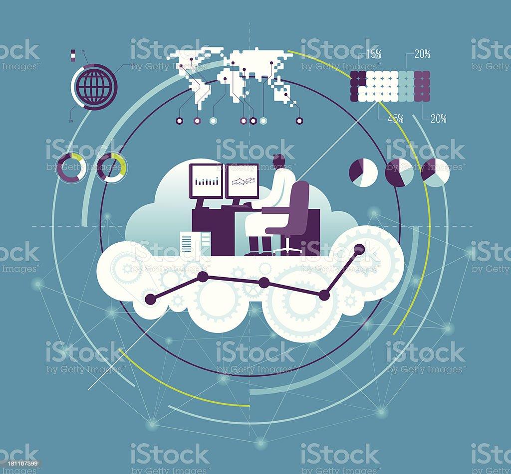Vector illustration of computing concept vector art illustration