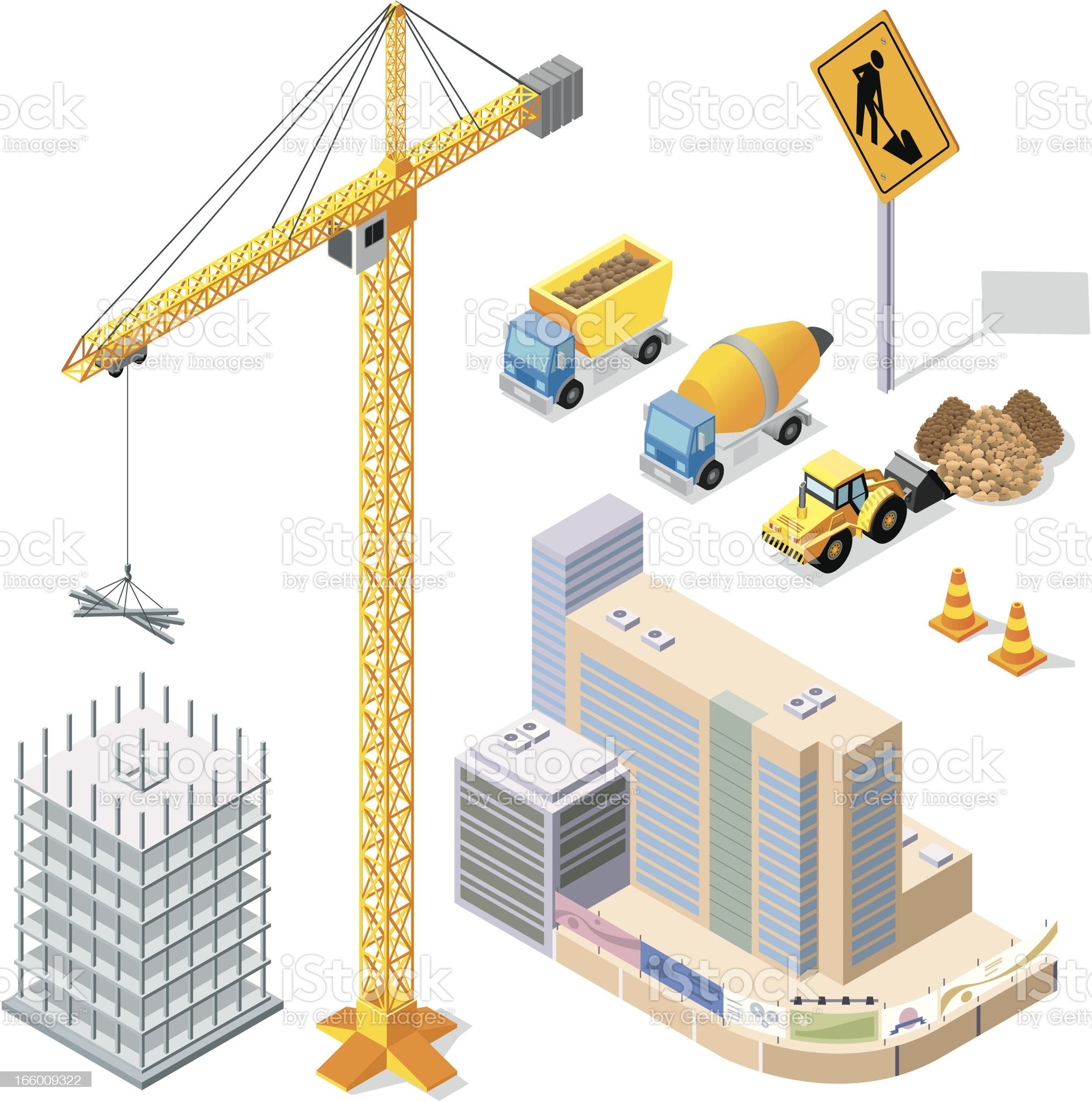 Vector illustration of construction elements royalty-free stock vector art