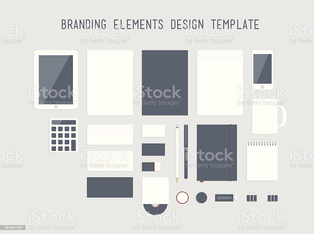 Vector illustration of corporate branding designs royalty-free stock vector art