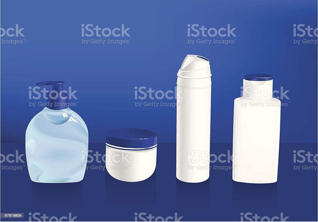 vector illustration of cosmetic container templates royalty-free stock vector art