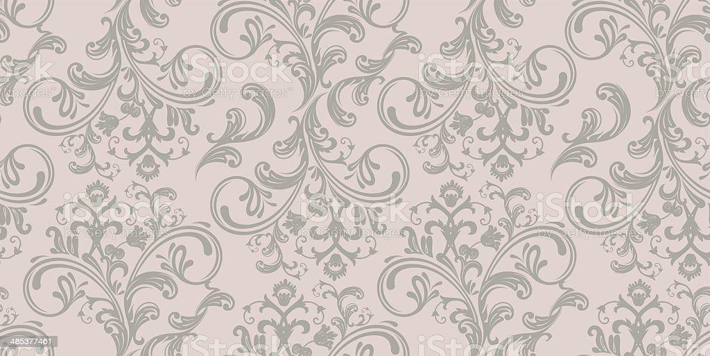 Vector illustration of Damask pattern vector art illustration