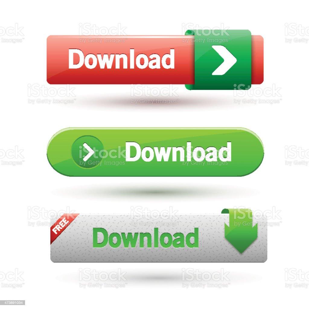 Vector illustration of download buttons. vector art illustration