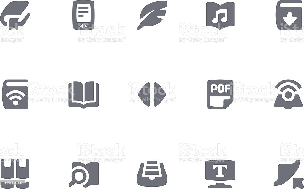 Vector illustration of ebook icons royalty-free stock vector art