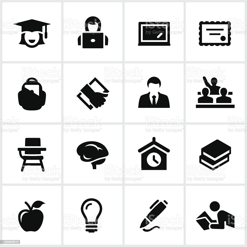 Vector illustration of education icon set vector art illustration
