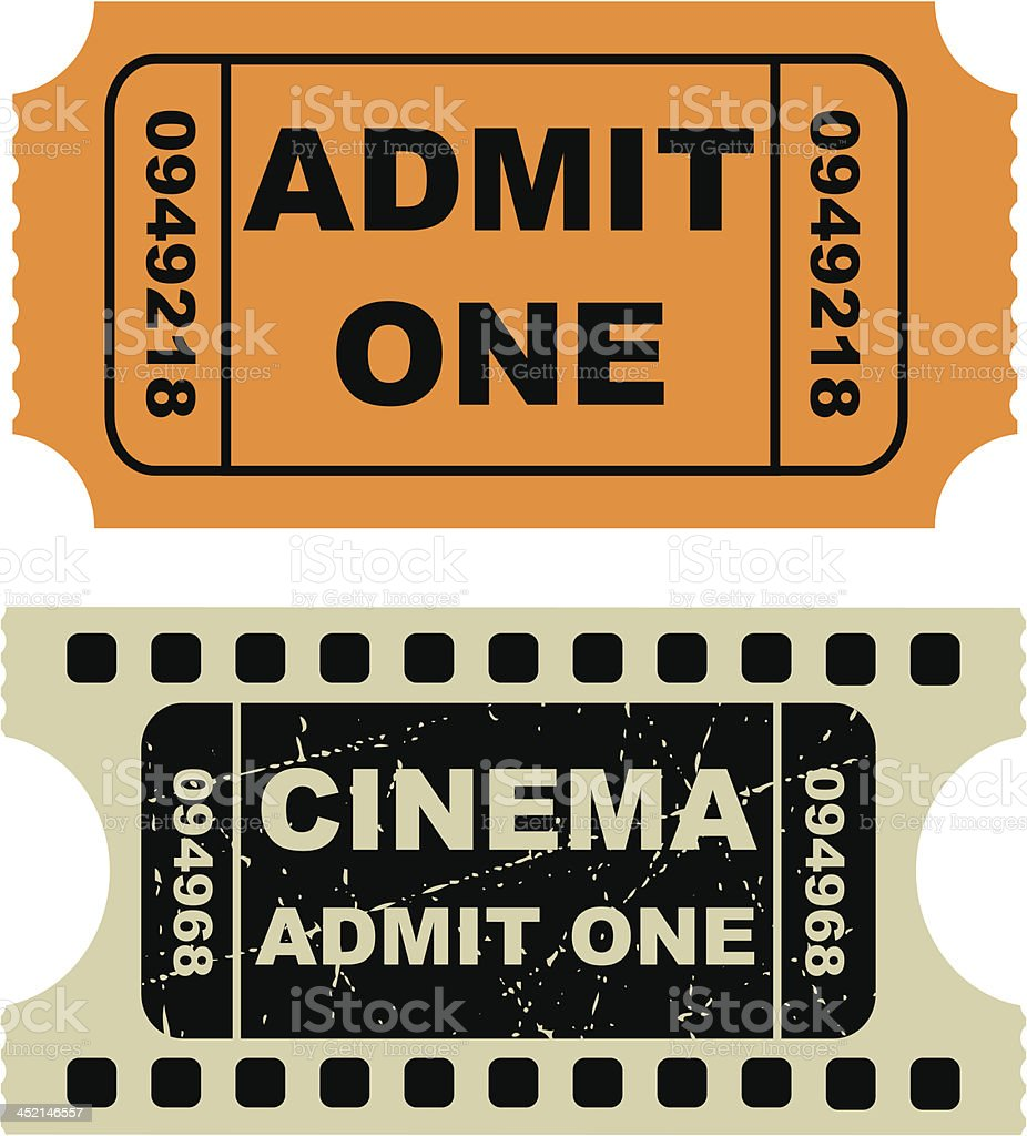 Vector illustration of entertainment tickets royalty-free stock vector art