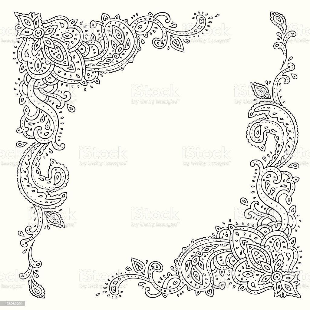 Vector illustration of ethnic ornament royalty-free stock vector art
