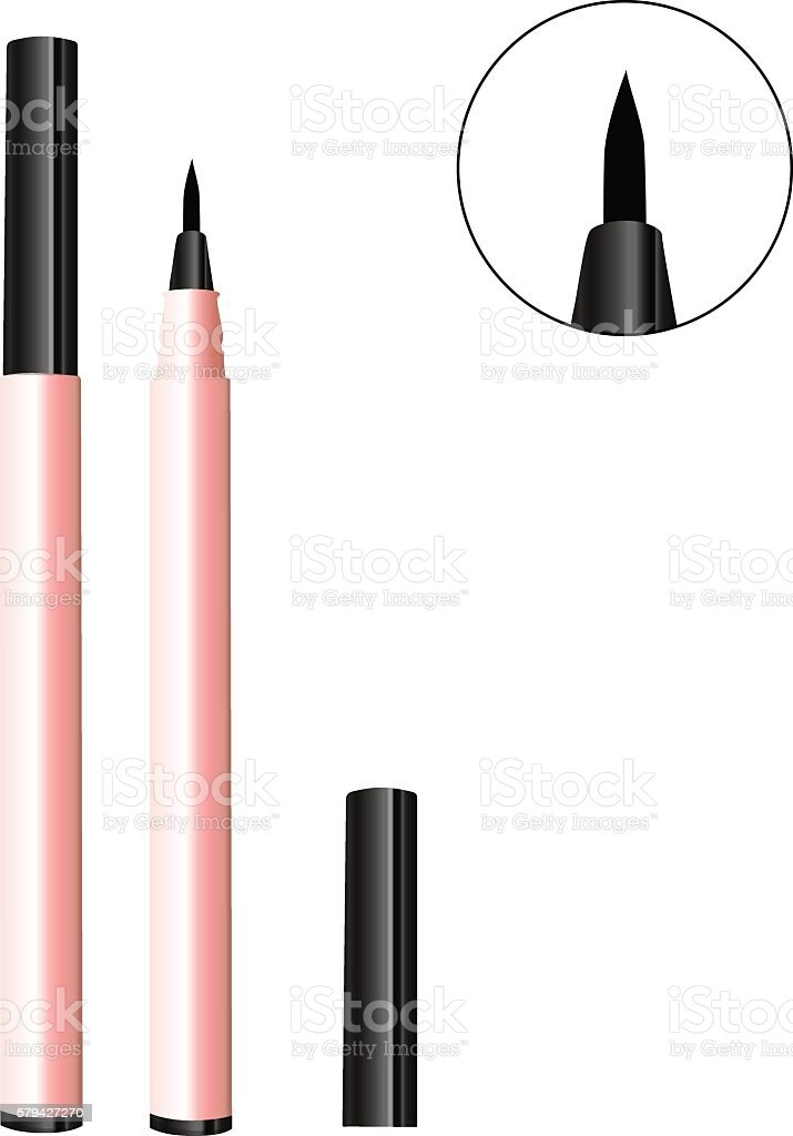 Vector Illustration of Eyeliner vector art illustration
