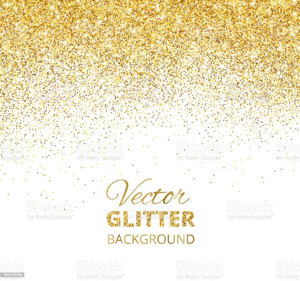Vector illustration of falling glitter confetti, golden dust. Fe vector art illustration