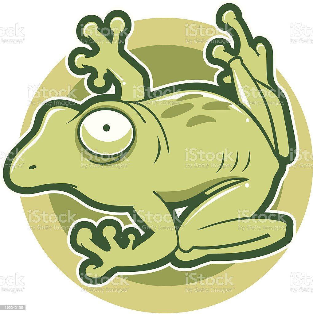Vector Illustration of Frog royalty-free stock vector art
