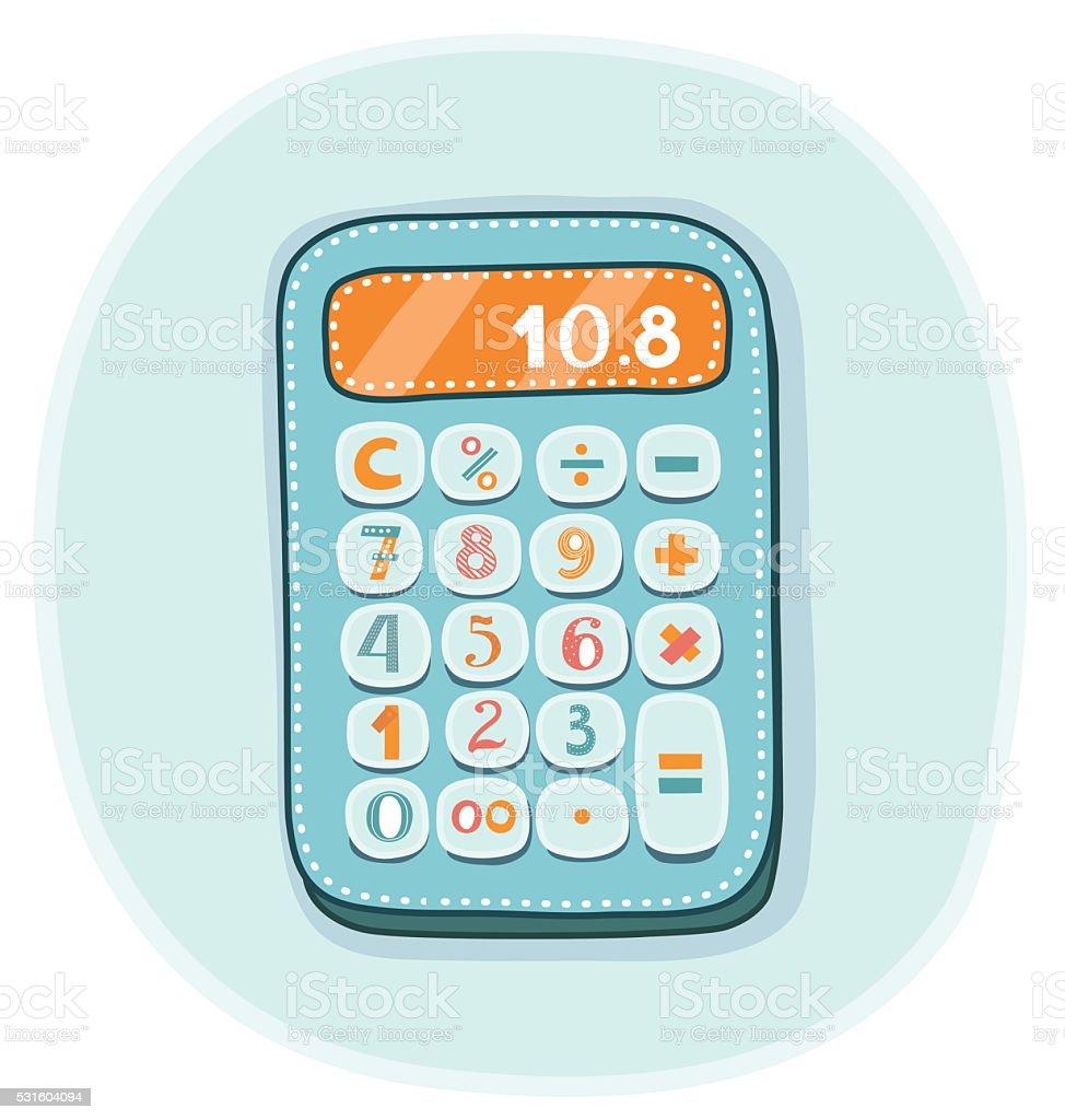 Uncategorized Kids Calculator vector illustration of funny kids calculator stock art royalty free art