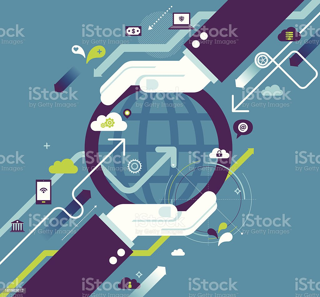 Vector illustration of global business concept royalty-free stock vector art