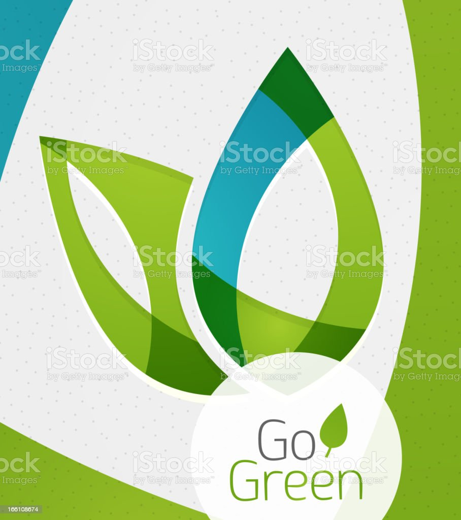 Vector illustration of go green design element royalty-free stock vector art