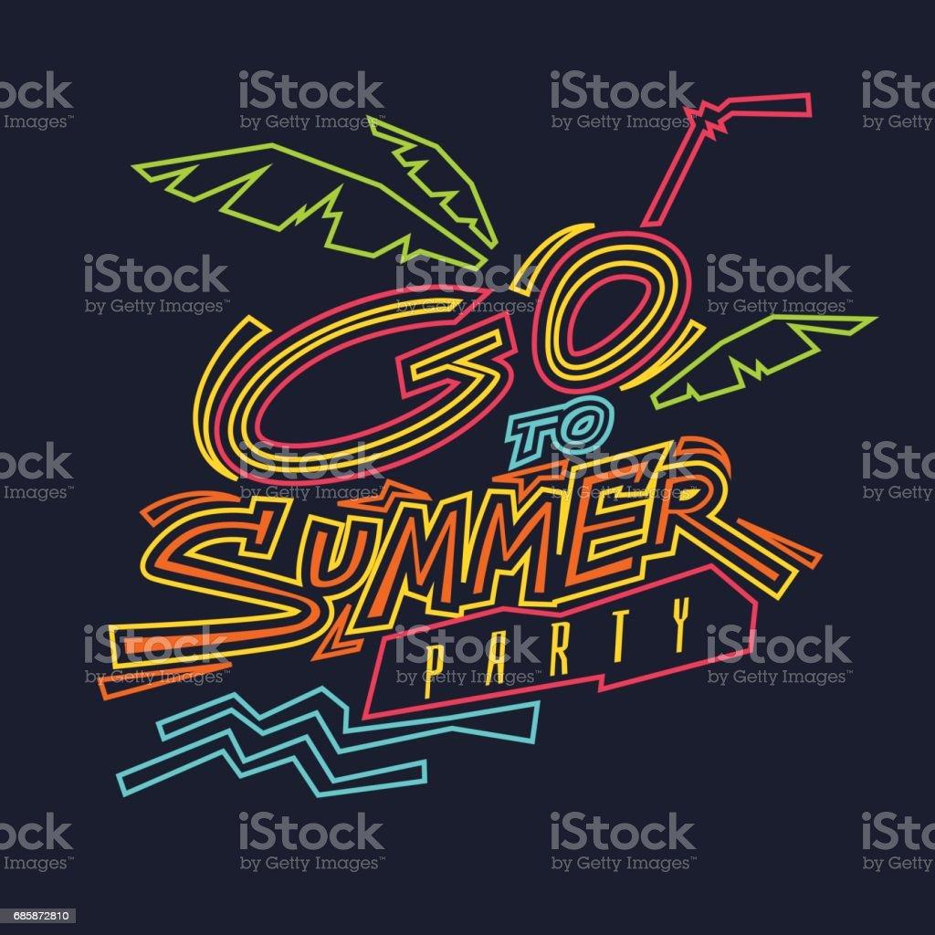 Vector illustration of go to summer party vector art illustration