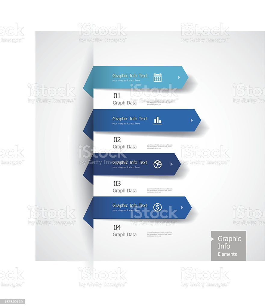 Vector illustration of graphic information vector art illustration