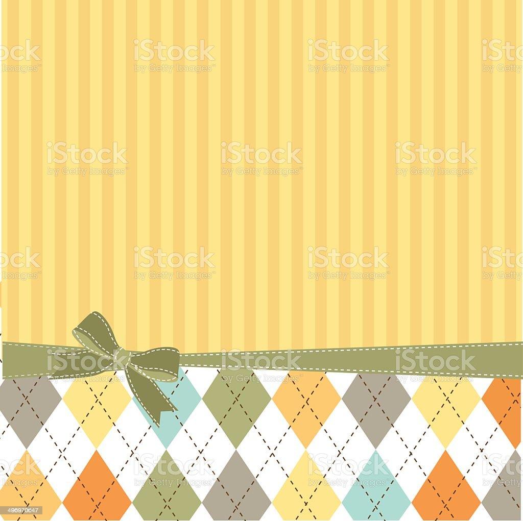 Vector illustration of greeting card template vector art illustration
