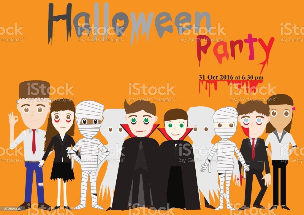 vector illustration of Halloween costume vector art illustration
