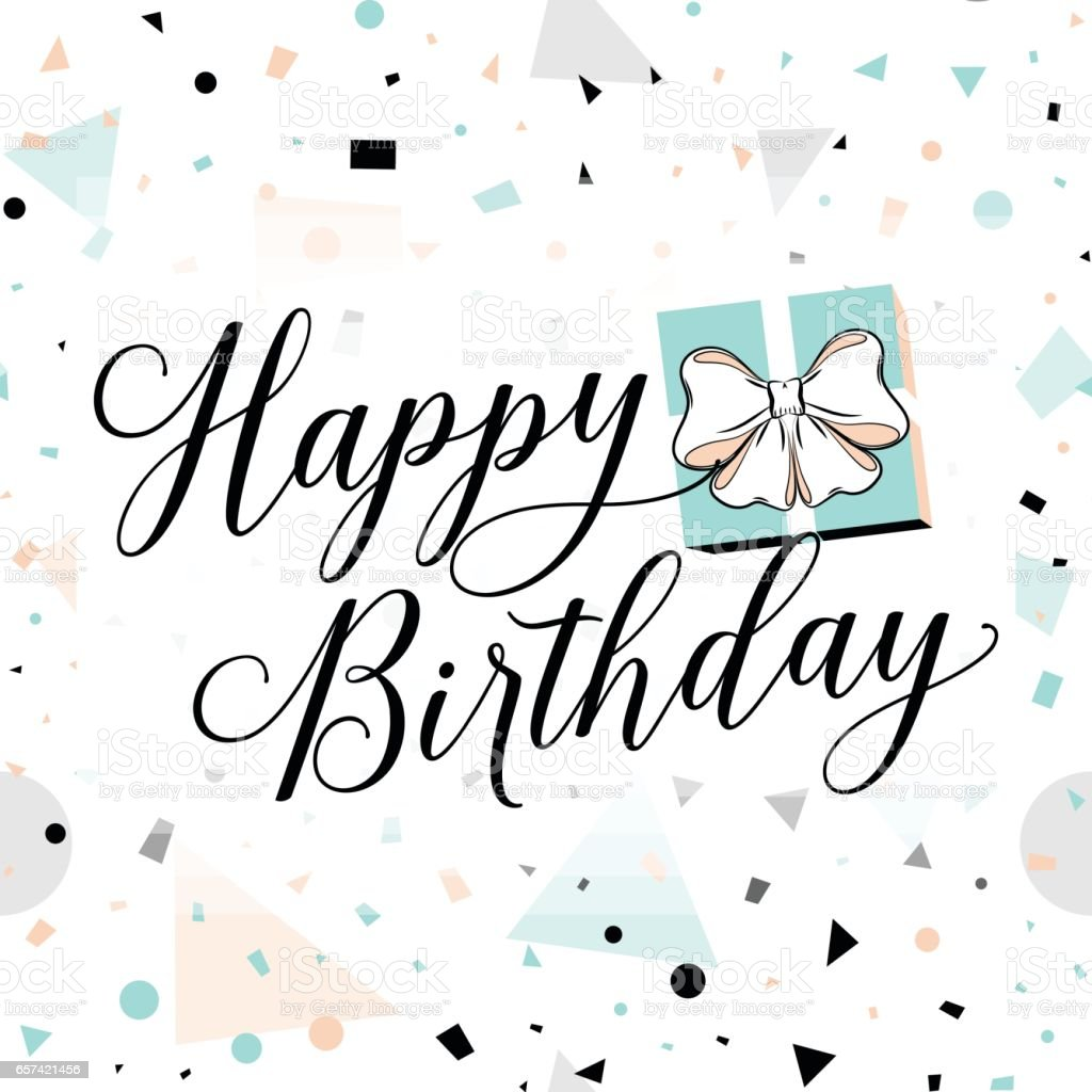 Vector illustration of Happy Birthday greeting card vector art illustration