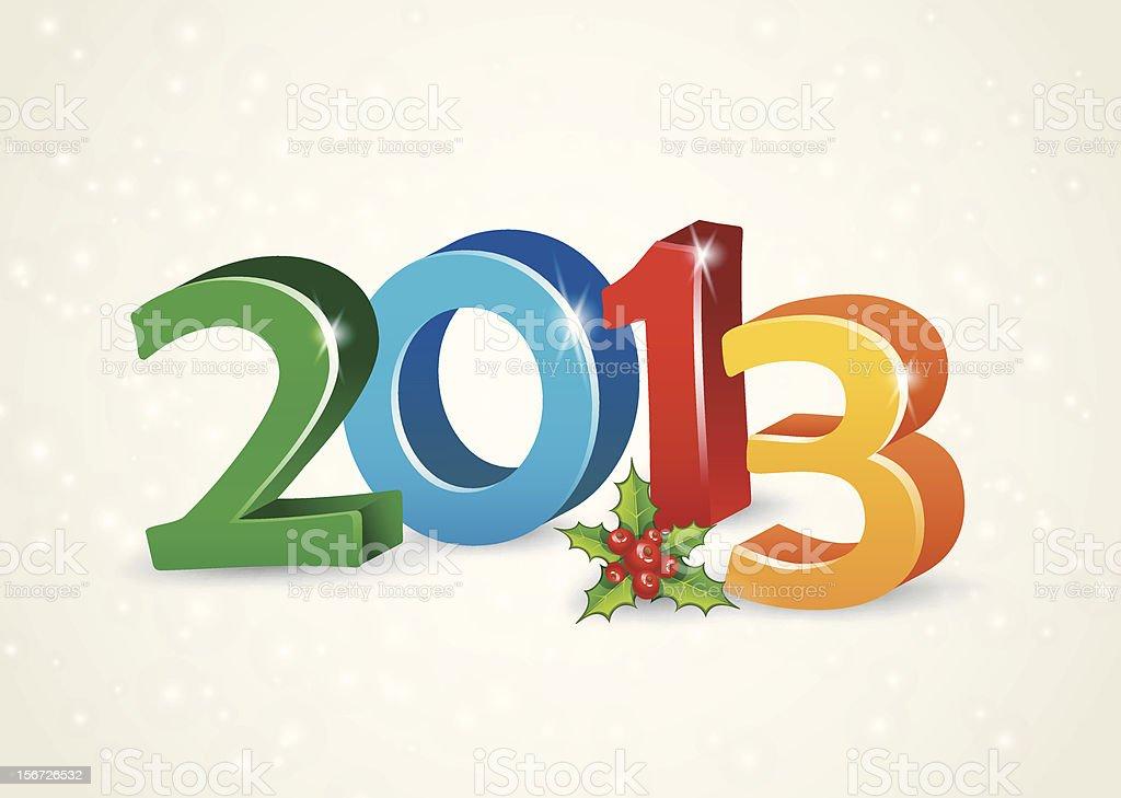 Vector illustration of Happy new year 2013 royalty-free stock vector art