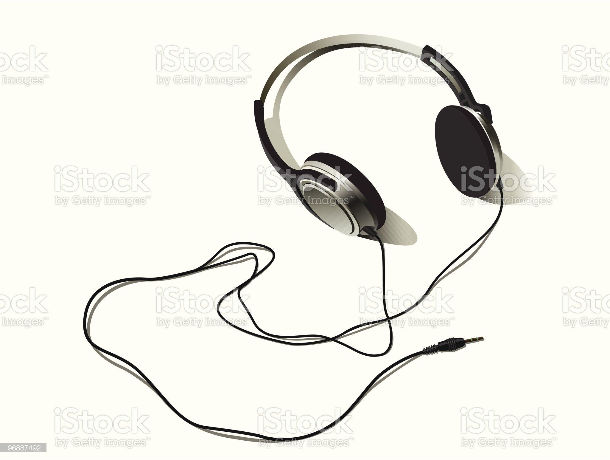 vector illustration of headphones royalty-free stock vector art