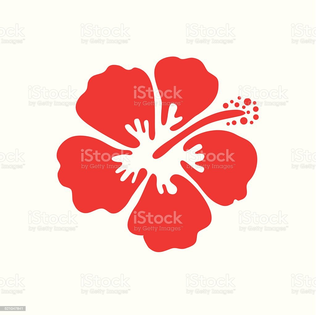Vector illustration of hibiscus flower vector art illustration