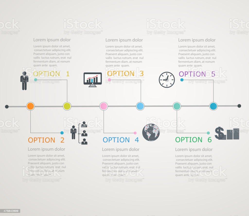 Vector illustration of infographics time line vector art illustration