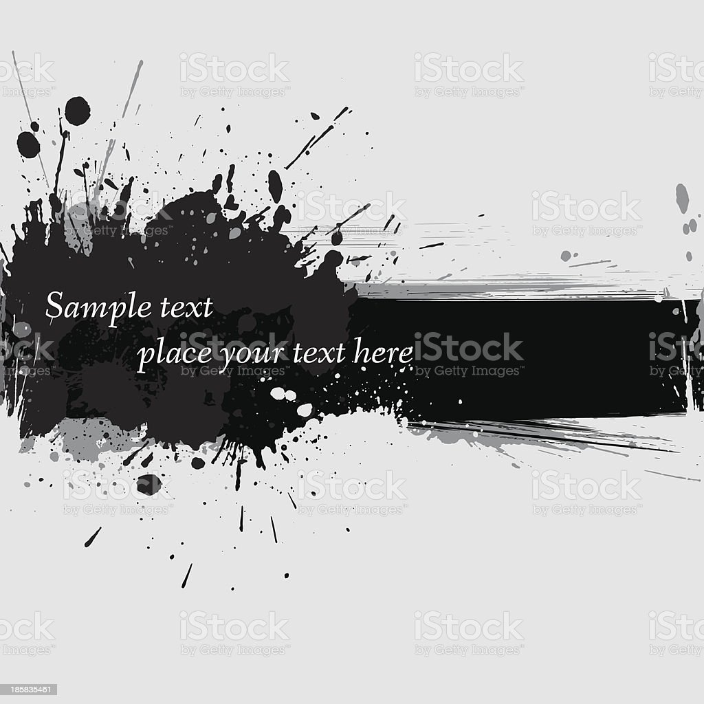 Vector illustration of ink grunge banner vector art illustration