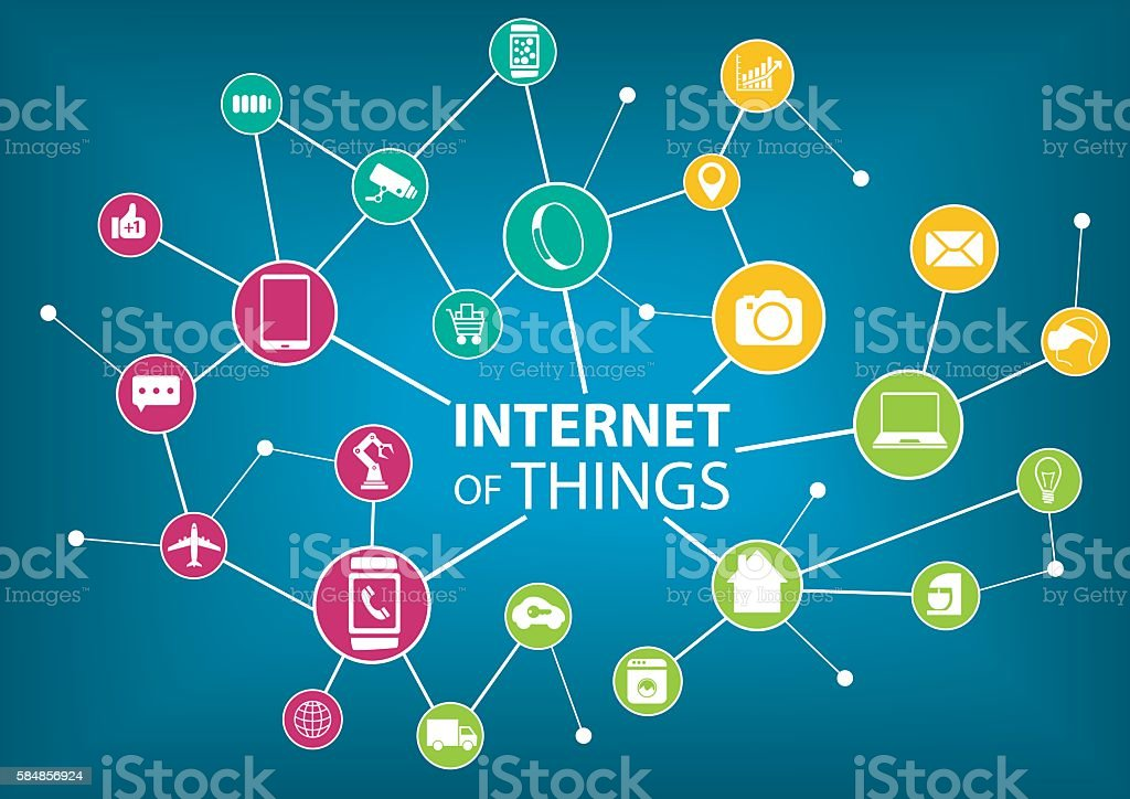 Vector illustration of internet of everything (IOT) concept. vector art illustration
