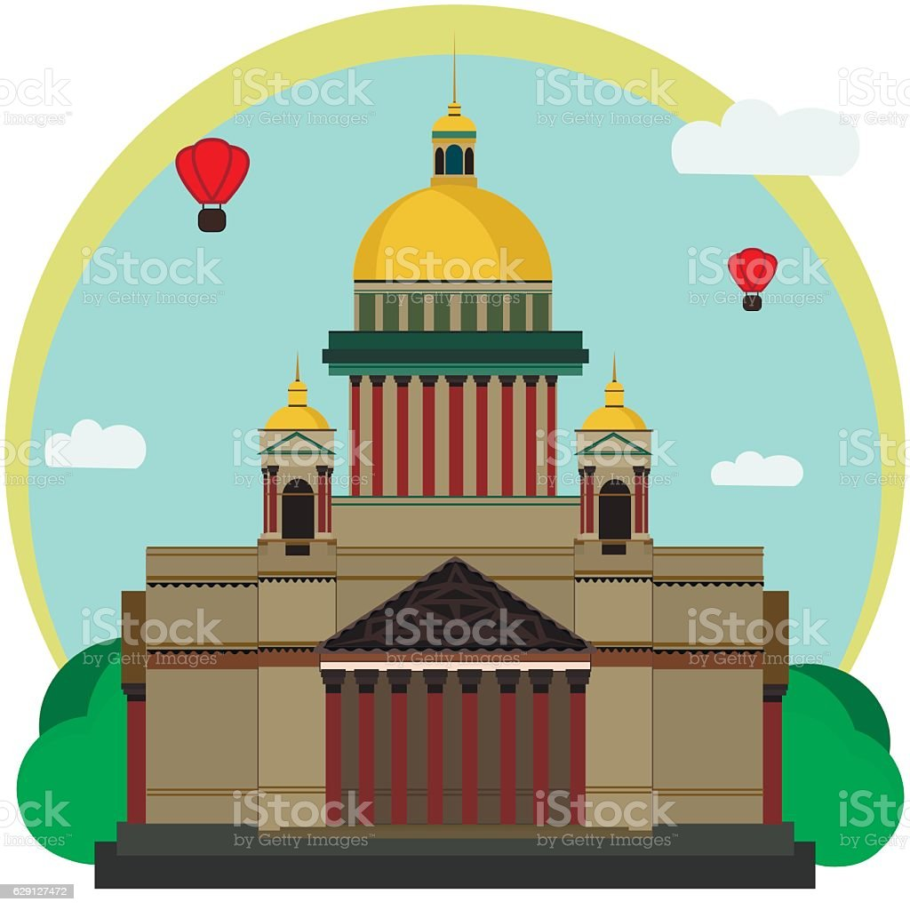 Vector Illustration of Isaac's Cathedral vector art illustration